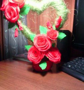 Топиари из сезали и роз