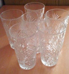 Набор стаканов хрусталь