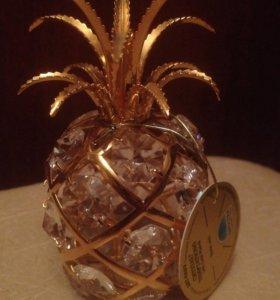 Фигурка Ананас с кристаллами Swarovski