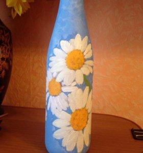 Праздничное оформление бутылок.