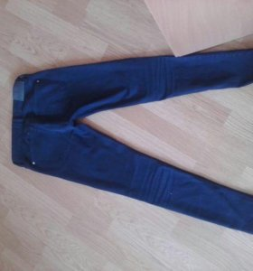 Штаны синие из mango
