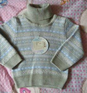 Новый детский свитер/джемпер 74