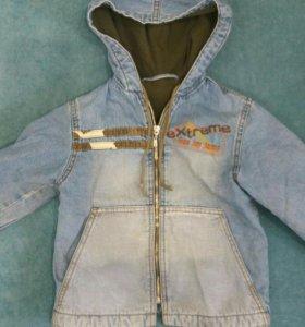 Куртка и джинсы утепленные на 4 годика