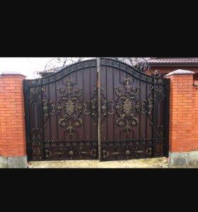 ворота откатные распашные