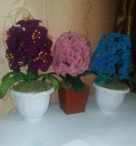 Цветы из бисера!!!!