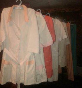 Медицинские кофты и халаты.