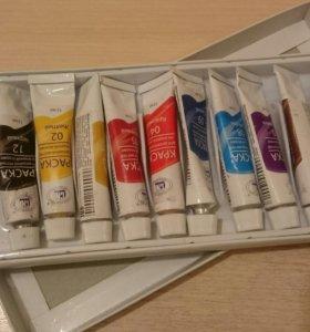 Набор акриловых красок по росписи на ногтях