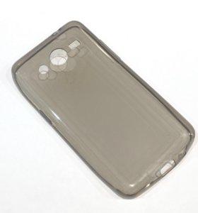 Чехол силиконовый на Samsung Galaxy Core 2, черный