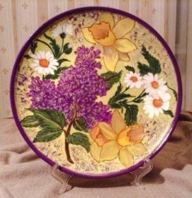 "Декоративная тарелка ""Цветы"""