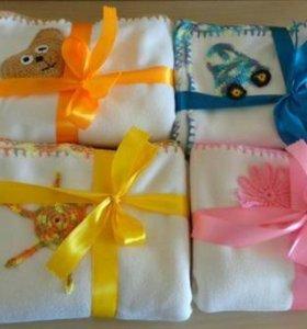 Пледы для новорожденных флисовые