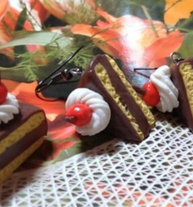 Тортики из полимерной глины, украшение