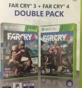Игра на Xbox 360 far cry 3+4 double pack