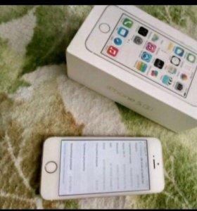 iPhone 5s на 16gb с отпечатком пальца.