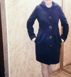 Пальто женское темно-синее