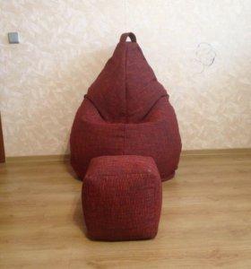 Кресло мешок новый из рогожки