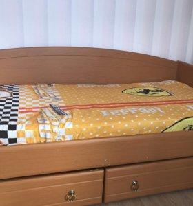Кровать с выдвижными ящиками 1,90х90