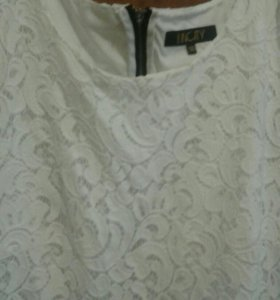 Платье инсити гипюровое