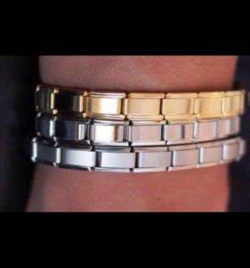Матовый серебряный браслет
