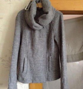 Куртка-пиджак 48-50/XL ШЕРСТЬ.ТРИКОТАЖ.НОВАЯ С ЭТИ