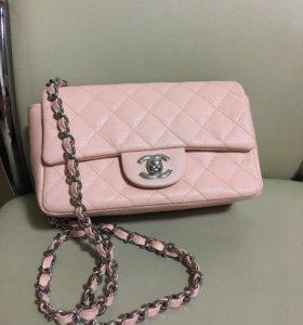 Chanel сумочка розовая