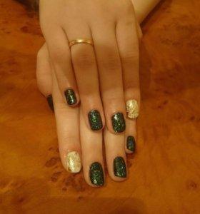 Покрытие гель-лаком(шеллак) ногтей