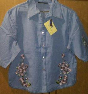 Джинсовая новая рубашка