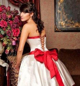вечернее (свадебное) короткое платье