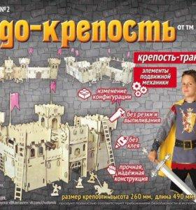 Чудо-крепость с катапультой и рыцарями (новая)