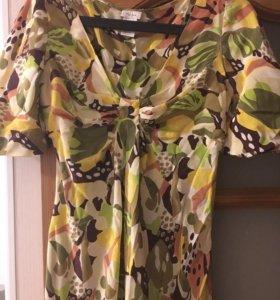 Платье. S. 100% шёлк. Б/у