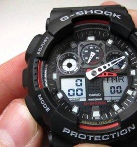 Часы G-Shock black + кообка