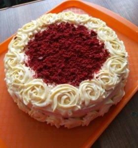 Торт Красный бархат 700р за 1кг