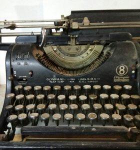 Винтажная пишущая машинка