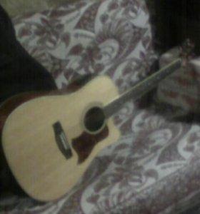Аккустическая гитара с пьезодатчиком новая .