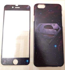 Чехол и защитное стекло iPhone 6, 6s, 7