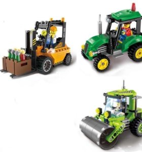Конструкторы трактор, каток, погрузчик