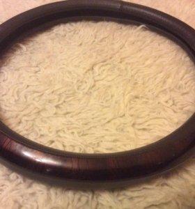 Чехол на рулевое колесо ,натуральная кожа ,новый