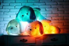 Мягкая игрушка Собака с LED подсветкой.