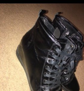 Ботинки кожаные осень