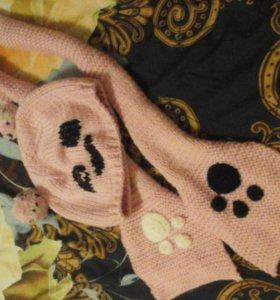 Комплект шарфик + шапочка