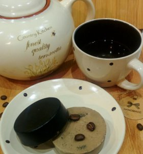Кофейное мыло-скраб ручной работы!