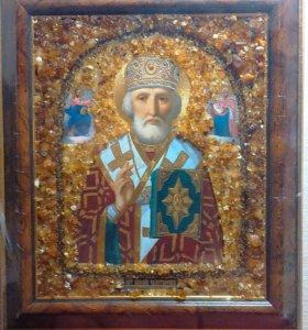 Иконы с янтарем