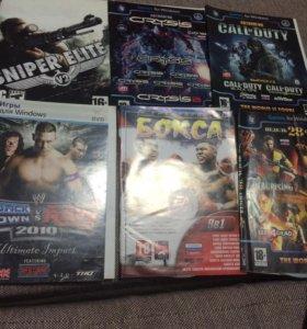 ДВД без коробок игры 11шт.(цена за все)