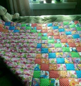 Лоскутное детское одеяло ручной роботы