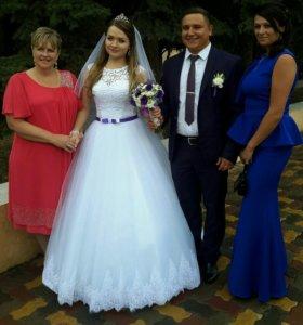 Свадебное платье + подъюбник + туфли