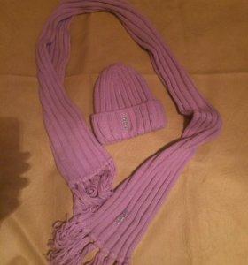 Шапка шарф новые