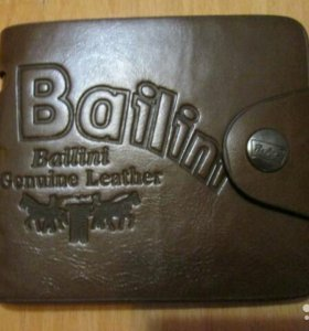 Мужской кожаный бумажник Bailiny