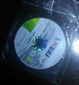 Диск на Xbox 360 fifa 14