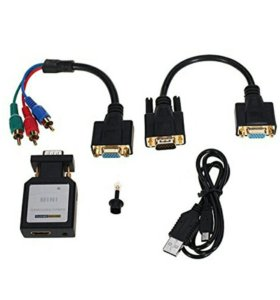 Конвертер HDMI & VGA + Ypbpr SPDIF Аудио