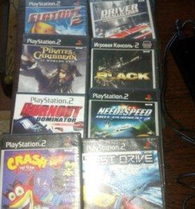 PS2 с дисками