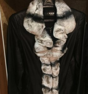 Кожаная куртка с шиншиллой